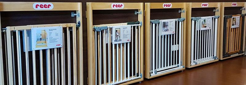 Reer Gate Displays at Baby Gates N Safety Showroom